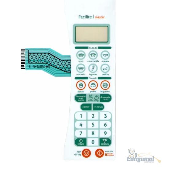 Membrana Teclado Microondas Consul Cms40 Facilite/Master